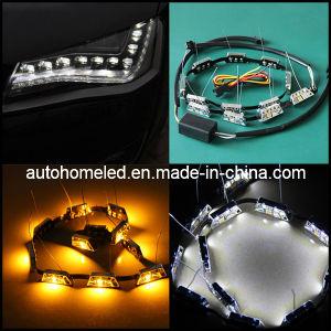 Dual Color LED Strip DRL Daytime Running Light for Car Switchback LED