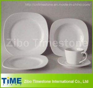 20PC Porcelain White Square Dinner Set (219005) pictures & photos