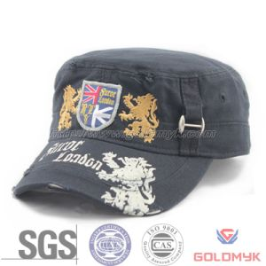 Custom Fray Washed Army Hat (GKA05-F00001) pictures & photos