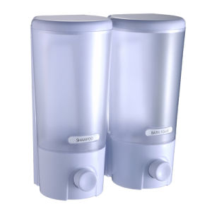 FLG Clear Choice Dispenser Two Chamber Shampoo&Shower Dispenser, White pictures & photos