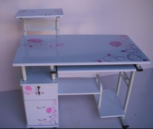 Furniture Morden Printing Glass Desk pictures & photos