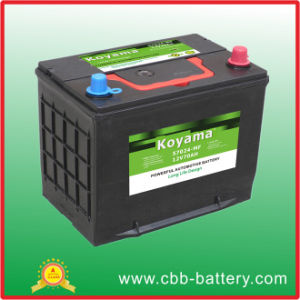 70ah 12V JIS Standard Car Battery N70mf-65D31r pictures & photos
