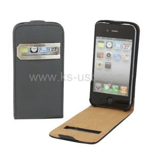 Smart Pocket Callid Caller ID Leather Case for iPhone 4 & 4s (KIP4G-1084)