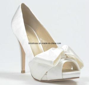 Beautiful Bridal Peeptoe Shoes High Heel with Bowknot White Wedding Beautiful High Heel Shoes