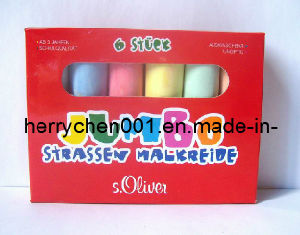Non Toxic 6 PCS Colour Sidewalk Chalk, Sky-502 pictures & photos