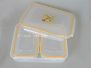 Transparent Plastic Lunch Box/Food Storage Container (TS-W4) pictures & photos