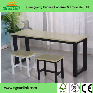 Modern Style 4 Seater Steel Wood Dining Room Furniture pictures & photos