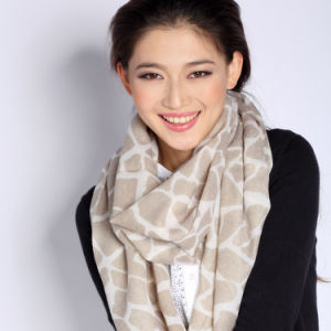 Fashion 100%Merino Wool Printed Scarf (12-BR300302-1.1) pictures & photos