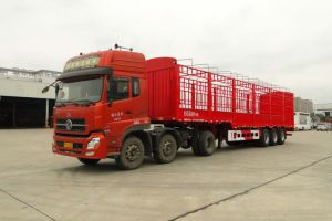 11m 3axles Warehouse Semi Trailer with Gooseneck