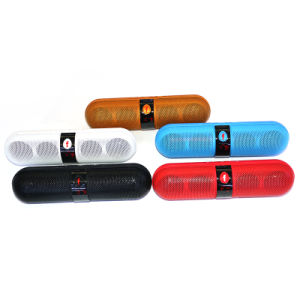 800mAh Portable Pill Shape Bluetooth Dual Speaker with Display Screen