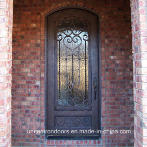 Eyebrow Top Wrought Single Door for Residential House (UID-S006) pictures & photos