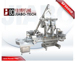 Dual Heads Talcum Powder Jar Filling Machine (SF5000D) pictures & photos
