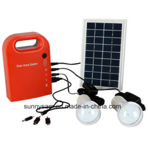 Mini Portable Solar Lighting System for Indoor or Home Lighting pictures & photos