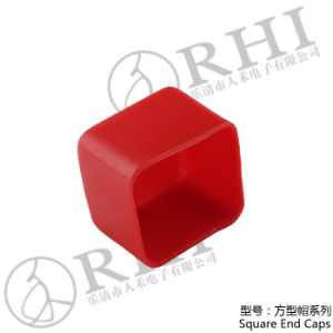 Soft PVC Red Square End Covers