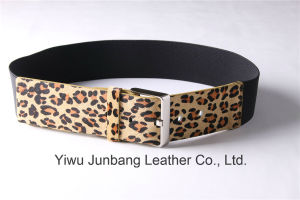 Leopard Fur Leather Belt Horse Hair Belt for Women Jbe1637