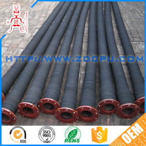 Flanged Head Two Steel Wire Reinforced Rubber Dredge Hose pictures & photos