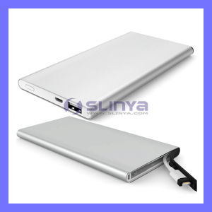 Mfi 3.1A Ultra Slim 6mm Metal Dual USB Port 6400mAh Power Bank with 8pin Lightning Cable for iPhone 6 Plus iPad Air Samsung Mobile Phone Tablet PC pictures & photos