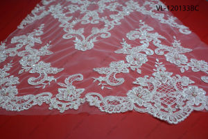 Factory Wholesale Lace Fabric Low Price Wedding Vl-120133-Bc pictures & photos