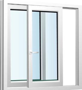 French Standard Double Plastic PVC / UPVC Sliding Glass Window