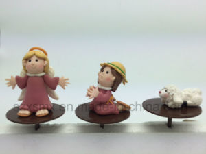 Goddess, Christ Child, Priest Polymer Clay Doll Easter Craft Decoration