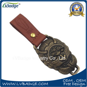 High Quality Custom Leather Metal Key Chain for Gifts pictures & photos