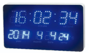LED Light Source and Flashlights Type Radio Controlled Alarm Clock pictures & photos