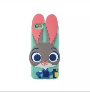 Judy Rabbit Cartoon Silicone Phone Case for iPhone 6 6splus 7 7plus 5s Se S6 S5 S7 (XSD-003-2)