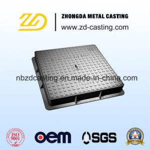 OEM Sand Casting Golden Supplier Manhole Cover with En124 Standard pictures & photos