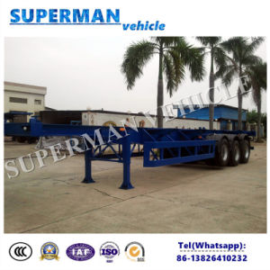 40ft Container Skeleton Frame Cargo Semi-Trailer with Airbag Suspension pictures & photos