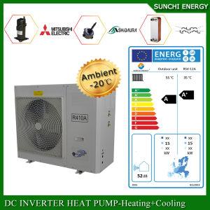 Amb. -25c Winter Floor Heating 100~300sq Meter Room 12kw/19kw/35kw Auto-Defrost Air Water Heat Pump Evi Split Condensor Indoor pictures & photos