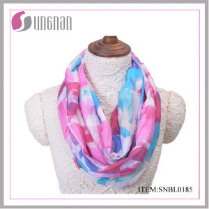 2016 Latest Spring Colorful Letter Pattern Ladies Cotton Infinity Scarf pictures & photos