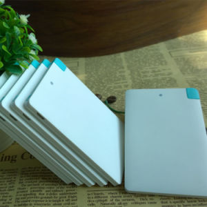 Ultra Thin Card Shape Power Bank 2600mAh Portable Charger pictures & photos