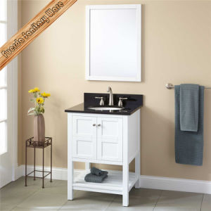 White Color Solid Wood Bathroom Vanity pictures & photos