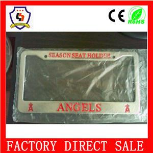 Custom Logo Printed Aluminum Metal License Plate Frame pictures & photos