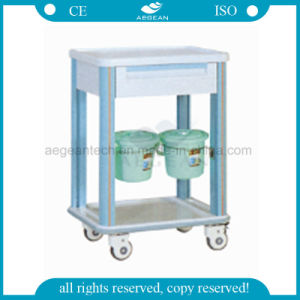 AG-CT002 with One Drawer ABS Material Hospital Trolley pictures & photos