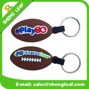 Supply Custom Rugby Rubber Soft PVC Key Chain (SLF-KC031) pictures & photos