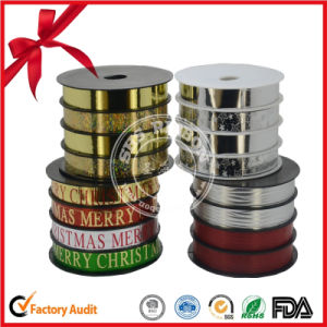 Christmas Gift Package Printed Curly Ribbon pictures & photos