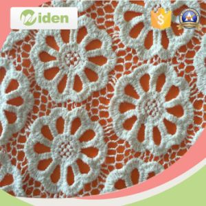 Cheap Lace Fabric for Women Clothes Orange Chemical Lace Fabric pictures & photos