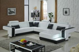 Modern Style Leather Sofa, Famous Leather Sofa Set pictures & photos