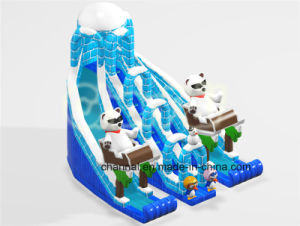 Polar Bear and Penguin Ice Castle Inflatable Dry Slide (CHSL1107) pictures & photos