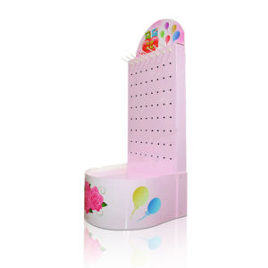 Pop Cardboard Display Stand with Hooks, Store Advertising Paper Display pictures & photos