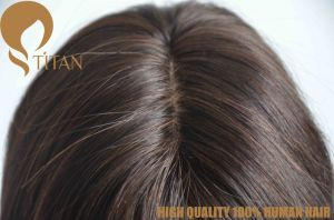 Brazilian Remy Human Hair Piece with Baby Hair by Hand Tied pictures & photos