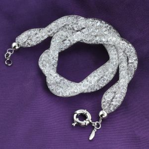 Custom Fashion Jewelry Women White Gold Plating Crystal Necklace pictures & photos