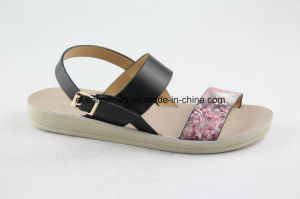 New Arrival Lady Fashion Sandal with Flat Heel pictures & photos