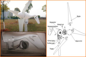 400W 12V/24V Wind Turbine Generator, Only 2m/S Small Start Wind Speed pictures & photos