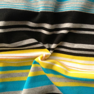 68%Poly 28%Rayon 4%Spandex Yarn Dyed Knitting Fabric (QF13-0684) pictures & photos