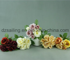 Decorative Artificial Rose Bouquet Flower (SF12497)