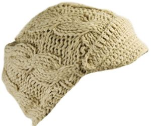 Women′s Winter Fashion Knit Visor Beanie Cap pictures & photos