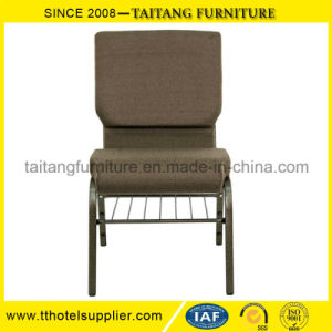 Chinese Factory Padded Strong Metal Church Chair pictures & photos