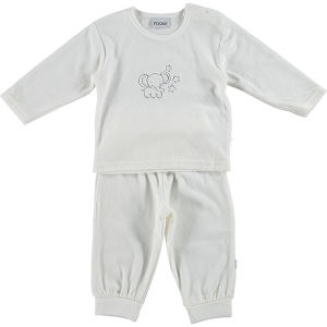 White Velvet Two Pieces 12-24month Baby Kids Clothing pictures & photos